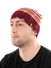 Barts Cap Beanie Hat Winter hat red stripes elastic warming