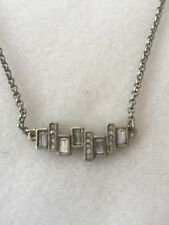 Banana Republic - Small Rhinestone and Bronze Colored Statement Necklace - NWOT