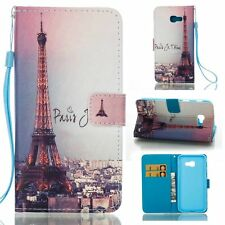 Eiffel Tower Patterns Case for Various Phones Protective PU Leather Flip Cover
