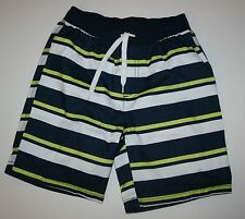 New Gymboree Outlet Blue White Neon Stripe Swim Shop Swim Trunks Size 6 7 10 NWT