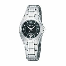 Pulsar Black  Ladies Analog Casual Silver Watch PXT795 PXT703