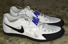 Mens 9.5 10.5 NIKE ZOOM RIVAL SD 2 White Black Blue Throwing Field Discus Shoes