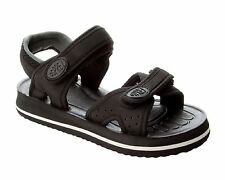 NEW BOYS BLACK TOUCH FASTEN SUMMER BEACH HOLIDAY SANDALS UK SIZE 13-5
