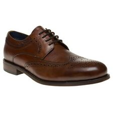 New Mens SOLE Tan Duke Leather Shoes Brogue Lace Up