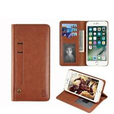 Card Slot Folio Leather Wallet Case Detachable Magnetic Hard Case For iPhone