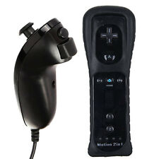 Wireless Built in Motion Plus Remote Controller + Nunchuck For Nintendo WII Game