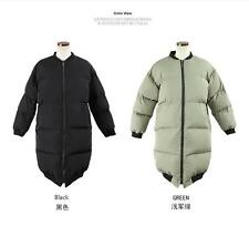 2017 Women's Cold Weather Feather 100% Real Collar Down Jacket Christmas Coat