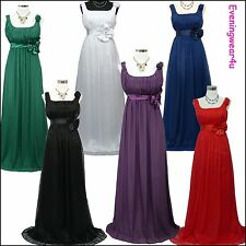 Cherlone Chiffon Long Ball Formal Bridesmaid Prom Wedding/Evening Gown Dress