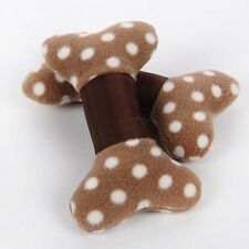 Lovely Pet Brown Plush Style Bone Shape Training Molar Teeth Cleaning Pillow Toy
