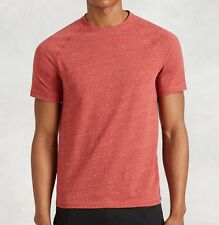 John Varvatos Star USA Men's Short Sleeve Crew Marled Tee Shirt Brick Red NWT