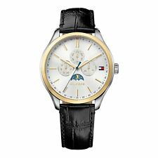 Tommy Hilfiger White  Mens Analog Casual Black Watch 1791305 1791306 1791307