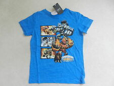 BNWT Next Boys Bright Blue Skylanders T-Shirt Age 5 Years Giants