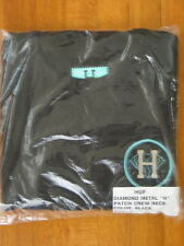 "HUF x DIAMOND SUPPLY CO ~ Black Metal ""H"" Crewneck size Small New Authentic"