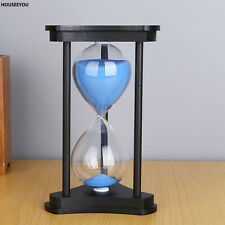 15 minutes Black Wood Sand Glass Hourglass Timer Clock Home Office Decor Gift