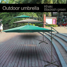 10' Hanging Umbrella Patio Umbrella UV Resistant Shade Offset Outdoor With Base