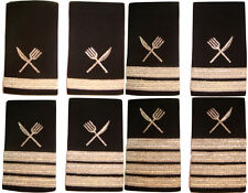 Shoulder Boards Epaulets With Silver Bars Stripes And Silver Knife And Fork