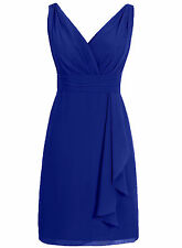 Sexy V Neck New Short Bridesmaid Dresses Chiffon Formal Party Cocktail Prom Gown