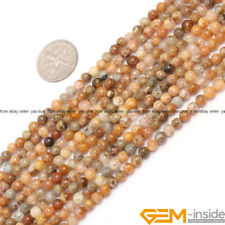 Natural Mixed Jasper Agate Gemstone Round Loose Beads For Jewelry Making 15""
