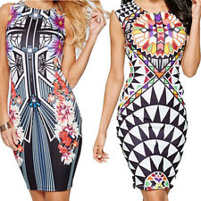 Sexy Pencil Nightclub Dress Package  Pen New Digital Vest  Printing Hip Mini