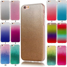 Gradient Glitter Silicone Soft TPU Bling Case Cover Back Shell For Various Phone