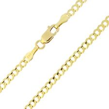 """Solid 14k Yellow or White Gold Comfort Cuban Curb 2.6mm Chain Anklet - 10"""""""