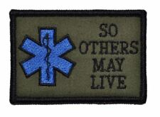 EMS So Others May Live 2x3 Military/Morale/Paramedic EMT Patch Hook Backing