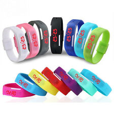 Men Date Rubber LED Waterproof Watch Bracelet Digital Sport Wrist Watch H