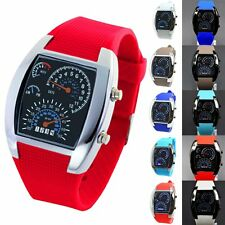 Fashion LED Date Watch Sport Quartz Wrist Men Analog Digital Military Wristwatch