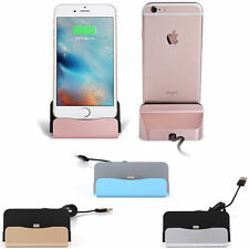 USB to Lightning Cable Desktop Charger Cradle Pad Dock for iPhone 7 6S 6 Plus
