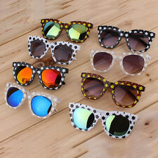 Fashion Colorful Sunglasses Stars Thick Frame Colorful Film/Gray Lenses PY