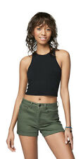 aeropostale womens solid high-neck bodycon crop tank shirt