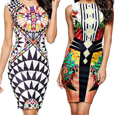 Hip Nightclub New Digital Dress Package  Mini Pen Printing Vest  Sexy Pencil