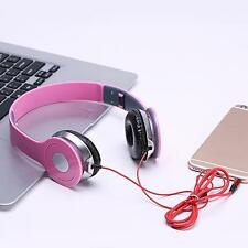 3.5MM STEREO HEADPHONES DJ STYLE FORDABLE HEADSET EARPHONE OVER EAR MP3 Tab New