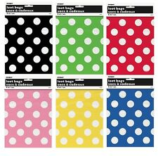 Polka Dots 8 Party LOOT BAGS Spots Spotty Birthday Treat Sweets Gift Goody Toys