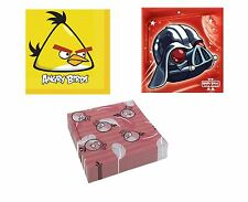LUNCHEON NAPKINS - Range of ANGRY BIRDS Designs (Tableware/Party/Kids/Birthday)