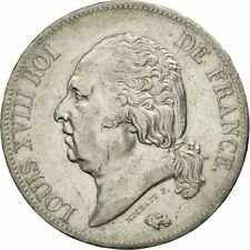 [#480655] France, Louis XVIII, 5 Francs, 1816, Paris, Silver, KM:711.1