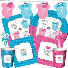 BOW OR BOWTIE? Baby Shower Party Range New Gender Reveal Tableware & Decorations