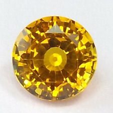 AAA Rated Lab Created Yellow Sapphire Round Faceted Loose Gemstone 5mm to 18mm