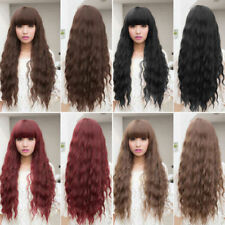 Beauty Womens Lady Long Curly Wavy Hair Full Wigs Cosplay Party LOT MQ