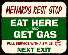 (VMA-G-1020) Menards Rest Stop Vintage Metal Art Automotive Retro Tin Sign