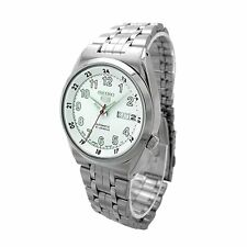 Seiko White 5 Automatic Mens Analog Casual Silver Watch SNK579J1 SNK578J1