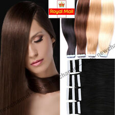 "16""-22"" Real Tape Glue in Skin Weft Human Hair Extensions Straight 50/100g C217"