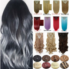 Straight Hair Full Head Clip In Ins Hair Extensions Extension as human hairpiece