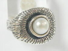 Sterling Silver 925 Ring Cocktail White fresh water pearl