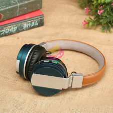 Blue ZH71 FM Wireless Bluetooth Headphone Headset Earphone For Call Phone Apple