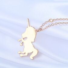 Silver or Gold Plated Baby Unicorn Kitsch Necklace Small Pendant in Gift Bag/Box