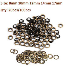 20/100pcs 8/10/12/14/17mm Brass Eyelets Shoes Craft Belts Bags Leather Fabric TP