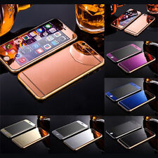 Mirror Tempered Glass Front&Back Screen Protector Film For iphone 5 6 6S Plus SE