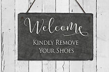 Sassy Squirrel Ink Kindly Remove Your Shoes Wall Decor