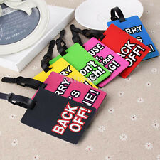 Plastic Luggage Tags Suitcase Label Name Address ID Bag Baggage Tag Travel New